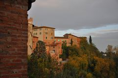 Beautiful setting in San Miniato italy royalty free stock photography