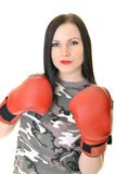 Beautiful sexual boxing girl Royalty Free Stock Images