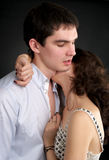 Beautiful sexual couple in love Royalty Free Stock Photos