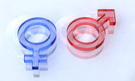 Beautiful sexual sign. Glass sexual sign on clean background Royalty Free Stock Photo