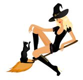 Beautiful sexual witch Royalty Free Stock Images