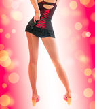 Beautiful sexual woman. dance style Royalty Free Stock Photos