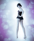 Beautiful sexual woman. dance style Royalty Free Stock Image