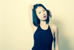 Beautiful sexy asian woman vintage color portrait Stock Image