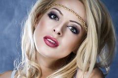 Beautiful Blond Girl. Long Hair. Royalty Free Stock Image
