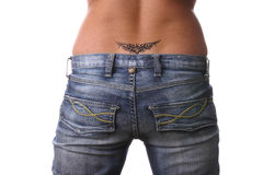 Beautiful, sexy bottom with tattoo Stock Images