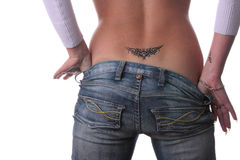 Beautiful, sexy bottom with tattoo Royalty Free Stock Photography