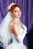 Bride red haired Royalty Free Stock Images