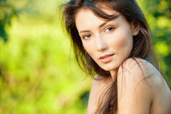Beautiful brunette Stock Photos