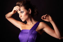 Beautiful and sexy brunette fashion girl Royalty Free Stock Photo