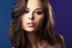 Beautiful and sexy brunette girl Royalty Free Stock Photos
