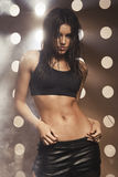 Beautiful sexy brunette model Stock Photography