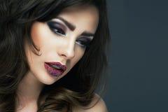 Beautiful sexy brunette woman Royalty Free Stock Photos