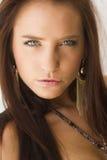Beautiful brunette woman summer portrait in bikini Stock Image