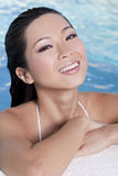 Beautiful Sexy Chinese Woman In Swimming Pool Stock Image