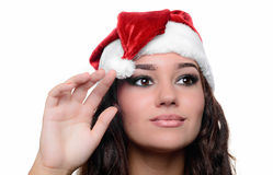Beautiful sexy christmas girl Stock Photography