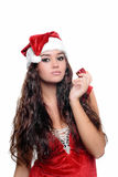 Beautiful sexy christmas girl Royalty Free Stock Photo