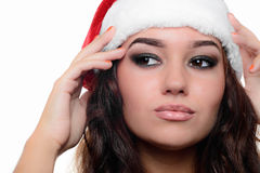 Beautiful sexy christmas girl Royalty Free Stock Image