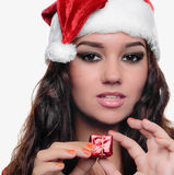 Beautiful sexy christmas girl Royalty Free Stock Photos