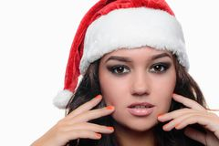 Beautiful sexy christmas girl Stock Photos