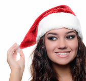 Beautiful sexy christmas girl Stock Images