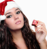 Beautiful sexy christmas girl Royalty Free Stock Photography