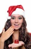 Beautiful sexy christmas girl Royalty Free Stock Photos