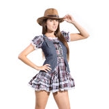 Beautiful sexy country and western girl Stock Photography