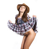 Beautiful sexy country and western girl Stock Photo