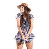 Beautiful sexy country and western girl Royalty Free Stock Photos