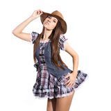 Beautiful sexy country and western girl Royalty Free Stock Image