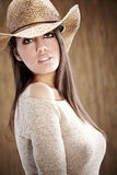 Beautiful Sexy  Cowgirl Royalty Free Stock Images