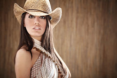 Beautiful Sexy  Cowgirl Stock Photography