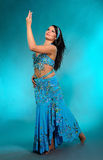 Beautiful sexy dancer woman in bellydance costume Royalty Free Stock Photography