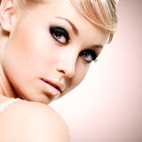 Beautiful sexy face of young woman Royalty Free Stock Images