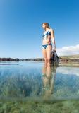 Beautiful Sexy Female Snorkeler Stock Photo