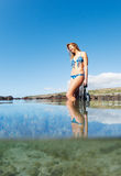Beautiful Sexy Female Snorkeler Stock Images