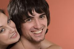 Beautiful sexy girl and boy with smile Royalty Free Stock Image