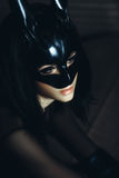 Beautiful sexy girl in bunny mask. glamour fashion close up port Stock Photo