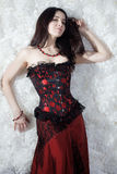 A beautiful sexy girl in a corset Royalty Free Stock Photo