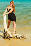 Beautiful sexy girl on seashore Stock Photography