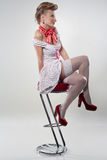 Beautiful sexy girl in the style of pin-up Royalty Free Stock Image