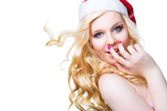 Beautiful sexy girl wearing santa claus clothes Royalty Free Stock Photo