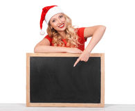 Beautiful sexy girl wearing santa claus clothes, christmas conce Stock Photo
