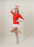 Beautiful sexy girl wearing santa claus clothes Royalty Free Stock Image