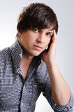 Beautiful guy with fashion  hairstyle Royalty Free Stock Image