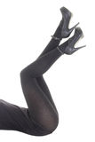 Beautiful sexy legs in black tights Royalty Free Stock Photo