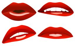 Beautiful sexy lips Royalty Free Stock Images
