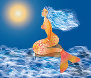 Beautiful sexy mermaid Royalty Free Stock Images