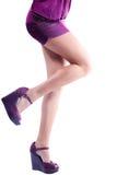 Beautiful model woman legs posing isolated Stock Photo